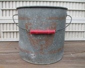 minnow bucket metal bucket vintage fishing pail farmhouse decor rustic wedding decor
