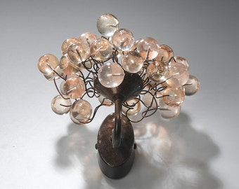 Wall lighting lamp -Sconce Transparent natural bubbles.