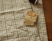 Natural notebook and brown chocolate check linen
