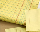 Simple note pad series yellow stripe cotton