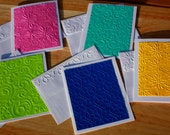Spring Card Set in Five Fun Colors and Patterns