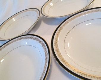 Vintage Sone China Kent 2456 Dessert / Fruit Bowls - Set of 4