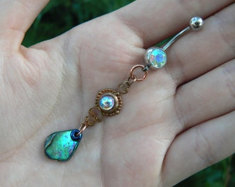 abalone belly ring mermaid belly button ring amethyst belly ring mermaid belly button ring moroccan belly button ring