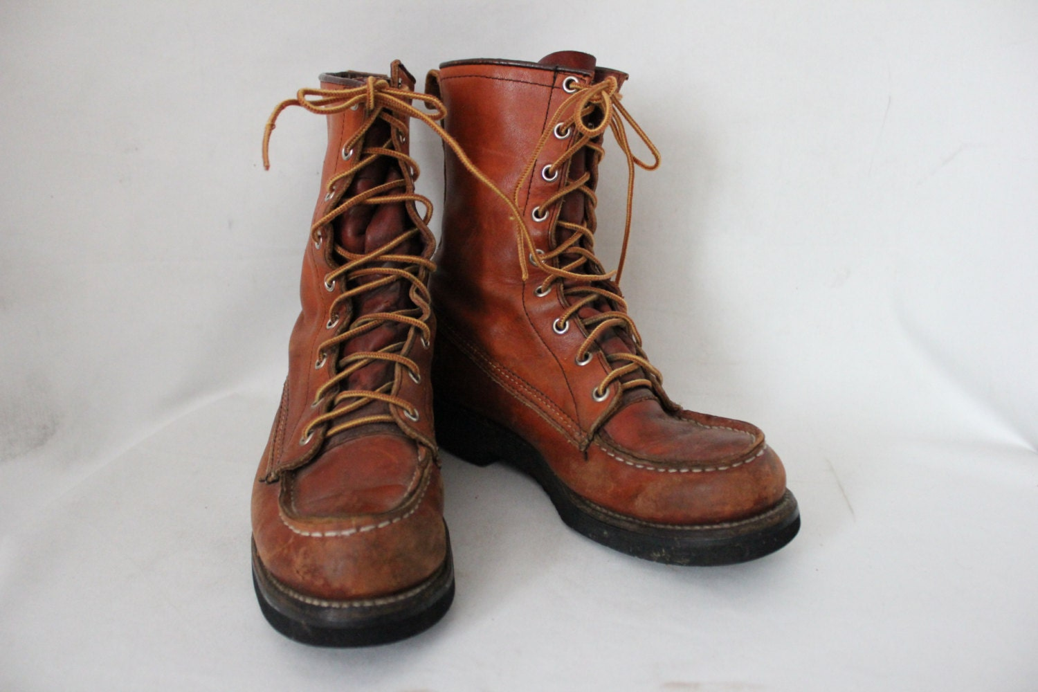 Vintage Eddie Bauer High Top Hiking Boots Women S 8