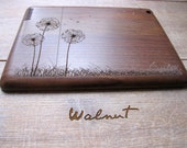 Ipad Air case (first and second generation) - wooden cases walnut or bamboo wood - Dandelion