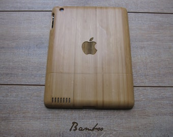 Ipad 3 case - wooden cases walnut or bamboo wood - apple