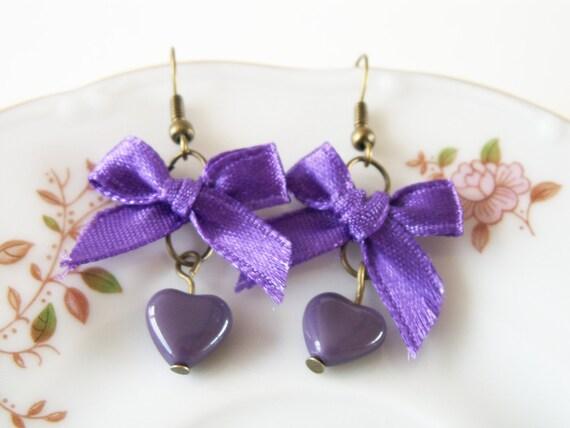 Lovely Purple - hearts