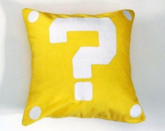 Mario Question Block Pillow Case