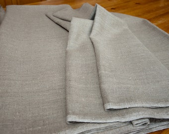 Heavy weight upholstery linen fabric,100% natural, for your crafts, furniture renew. Sale per yard.