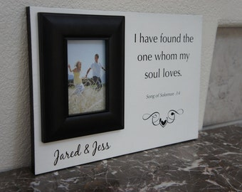 Personalize Wedding picture frame or anniversary  (I have found the one my souls loves) Solomon  18x12 by Frame your Story
