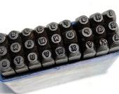 "Metal Stamps, 1/16"" Basic Alphabet Set, Uppercase Letters A-Z, Similar to Arial Font, Metal Stamping Tools"