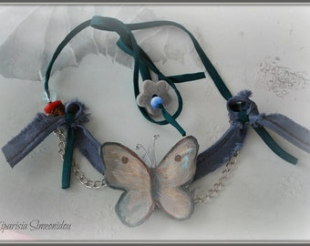 Butterfly Leather Necklace