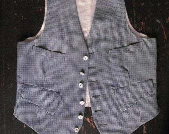 1940s houndstooth waistcoat