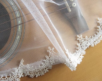 off White Bridal Lace Trim, guipure lace trim for bridal veil  Exquisite lace trim, trim lace, DG003B