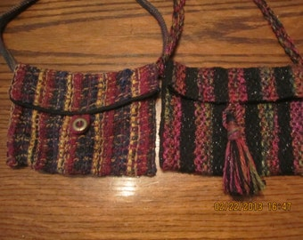 Two Small Handwoven Purses Bags