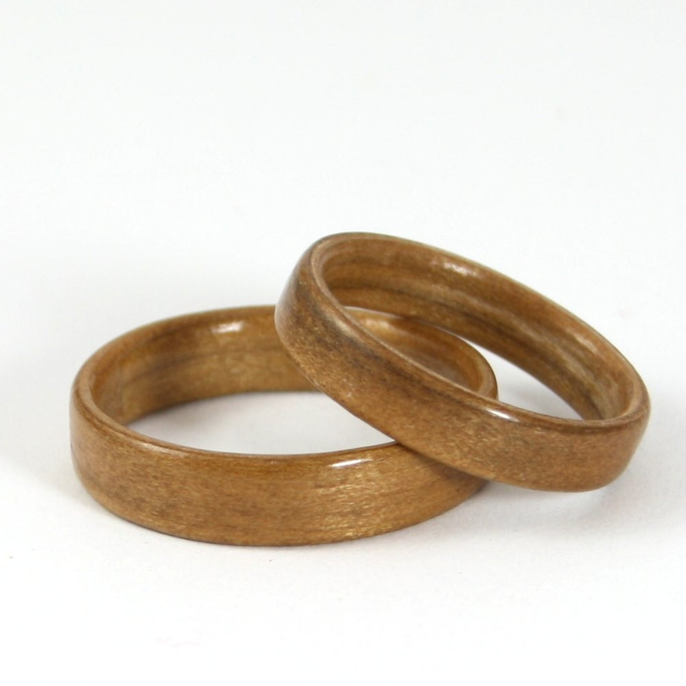Wooden wedding Ring Set Acacia Wood