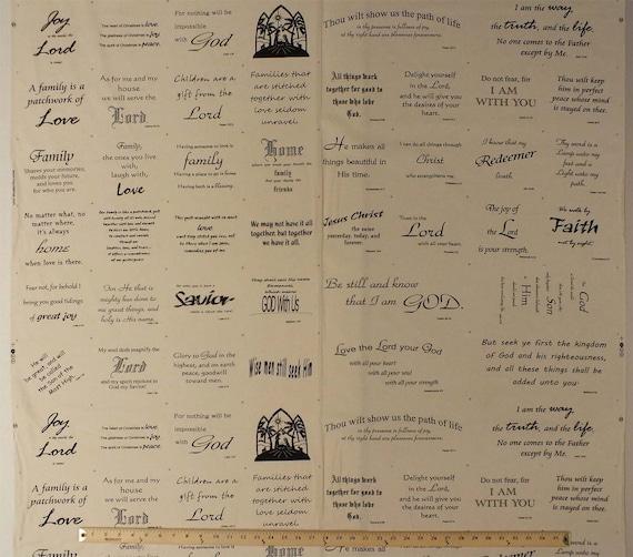 31 5 X 44 Cotton Panel Bible Scripture