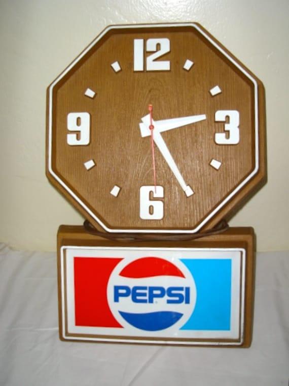 Vintage Pepsi Advertising Wall Clock