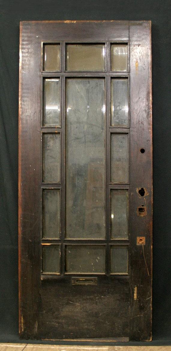 34x84 Antique Exterior Entry Oak Arts Crafts