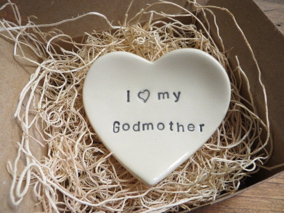 Godmother Gift, ring dish, wedding ring holder, I love my Godmother ...