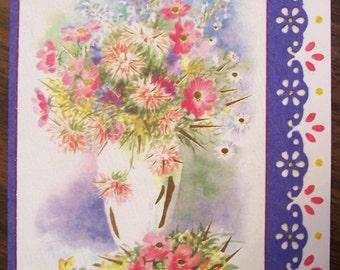Flower Easter Card