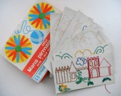 Soviet Vintage Sewing game Sampler Cards for sewing Learn to Sew game USSR era 1975