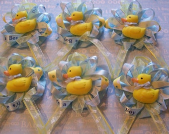 "Rubber Duckies  Baby Shower Guest Corsage  ""Its a Boy"" Baby Shower Rubber Ducky Theme Capias"