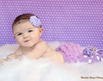 Lavender Shabby Chic Headband..Newborn Headband..Baby Girl Headband..Headband..Infant Headband..Baby Headband..Rosette Flower Headband