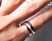 Classic Edition of Silver double band ring - Everyday wear Jewelry