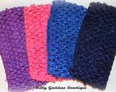 Crochet Wide Headbands..Girl's Headbands..Hair Accessories..2.5 Inch Crochet Headband