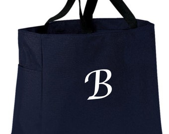 5 Bridesmaid Gift Monogrammed Personalized Tote Bag Wedding Party