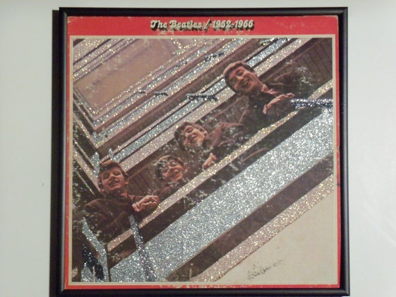 Glittered Record Album - The Beatles - 1962-1966