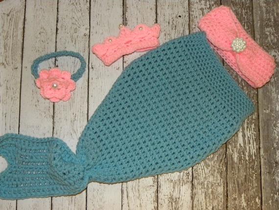 Crochet Patterns Mermaid Tail : Crochet Mermaid tail photo prop. Crochet mermaid tail, bikini top ...