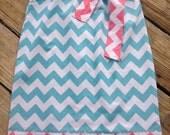 Adorable Chevron Aqua Dress