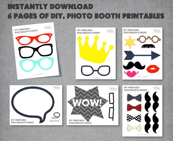 Unusual image within photo booth props printable pdf