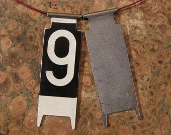 Vintage Cash Register Number 9