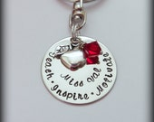 Hand Stamped Teacher Key Chain- Customized/Personalized Key chain