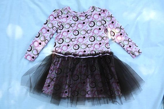 Clearance- Girls Size 6 Knit Tutu Dress with Tulle Skirt