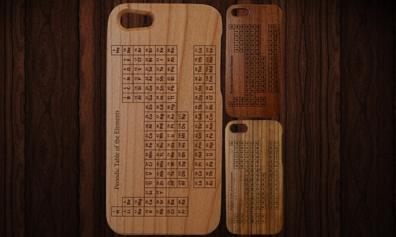 Wood iphone 5 case fits 5 and 5s periodic table engraving like this item urtaz Choice Image