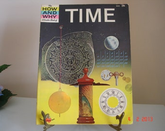 The How And Why Wonder Book Of Time , Number 5045 - Vintage Books - Science Books