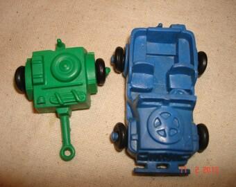Vintage 1950's 2 Piece Set Lido World War II Toys, Jeep & Radar Cassion Wagon - Vintage Army  Toys - Army Toys