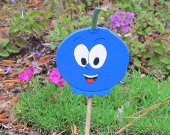 Vegetable Garden Marker - Bobby Blueberry