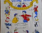 Vintage Kitchen  Vintage Linens  Gag Gift  Father's Day Gift