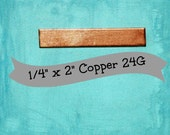"1/4"" x 2"" Copper 24G Rectangle Stamping Blanks Qty 4"