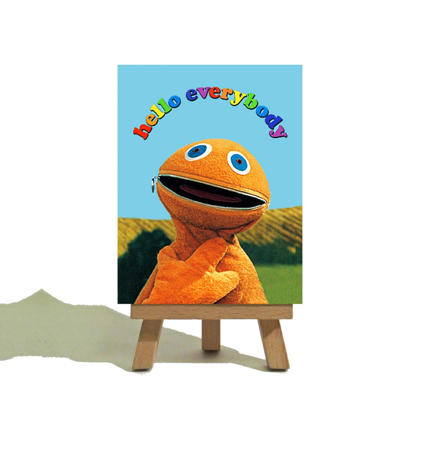 ZIPPY RAINBOW Awesome Miniature Canvas And Easel Set The