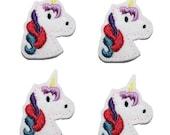 UNCUT Classic Unicorn felt applique embellishments hair bow center feltie(4)