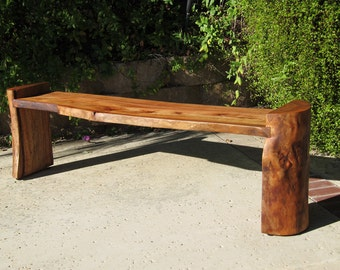 Log Bench - Reclaimed Wood Natural Edge