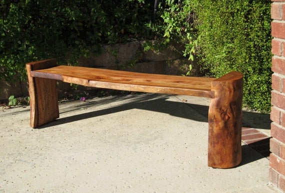 Modern Reclaimed Log Bench Coffee Table By Woodwavesinc On