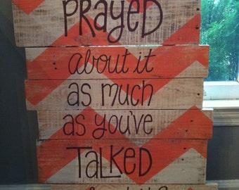 Wood Pallet Art -Bible Verse- chevron Matthew