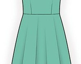 4263 PDF Dress Sewing Pattern - Women Clothes, Personalized for your custom size